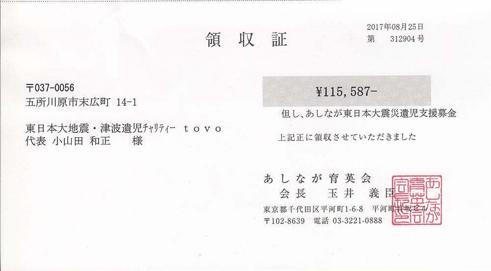 第46回 寄付ご報告 (2017.8.25)