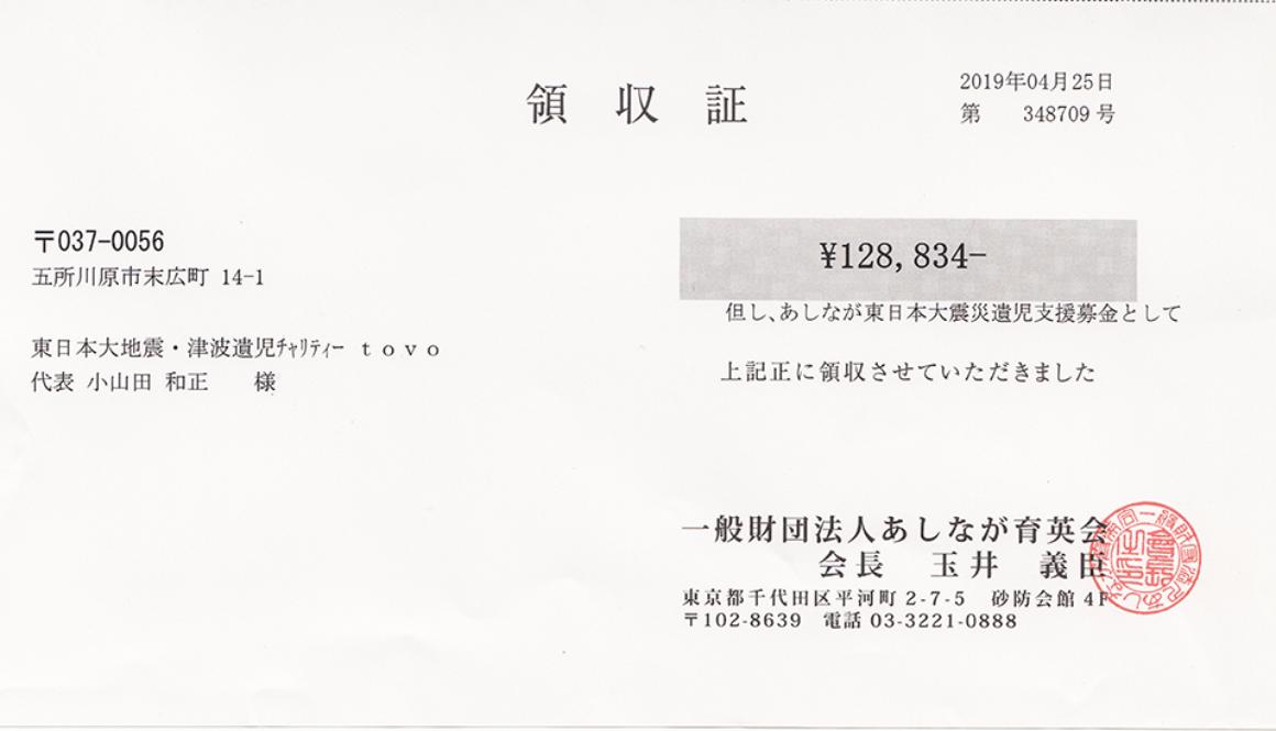 第56回 寄付ご報告 (2019.4.25)