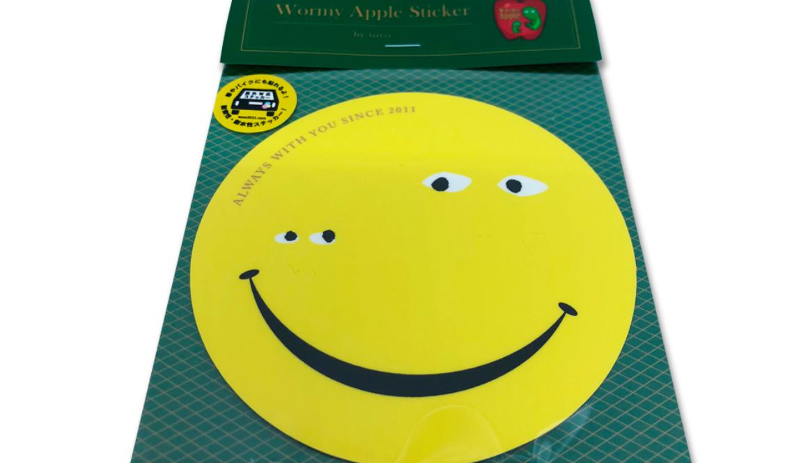 【新商品】WORMY APPLE 「SMILE」ステッカー(屋外対応)