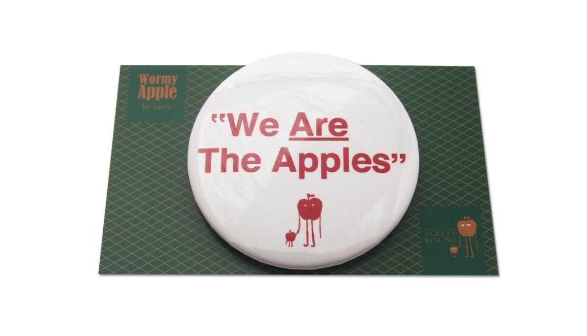 【WORMY APPLE シリーズ】「WE ARE THE APPLES」缶バッチ&ポストカード
