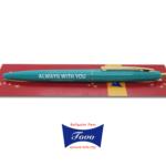 【新色】ボールペン(ティールグリーン)(黒/ノック式油性ボールペン/0.7mm)