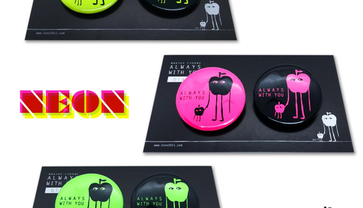 【新商品】black series 31mm缶バッチセット「ネオン(全3色 蛍光イエロー/蛍光グリーン/蛍光ピンク)」