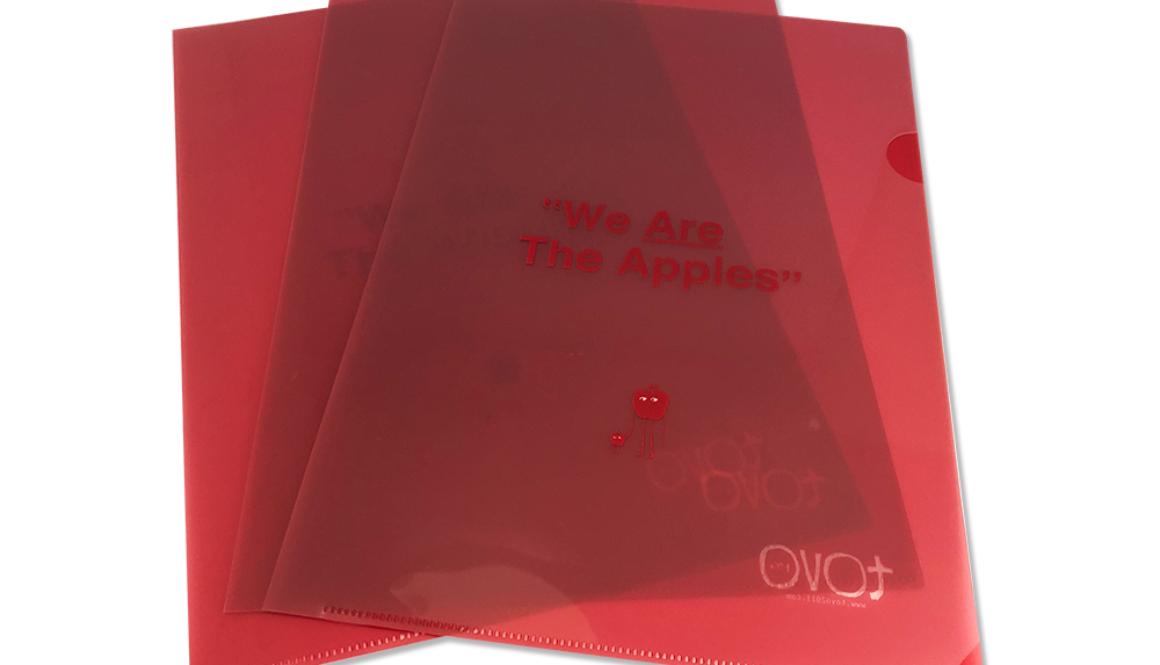 【新商品】クリアファイル 「We Are The Apples.(A4サイズ/同柄3枚セット)」