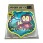 【新商品】HAVE A GOOD JOURNEY! 耐候性・耐水性 ラゲッジステッカー(OWL)