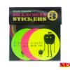 【新商品】蛍光(ネオンカラー)シルクスクリーンステッカー(60mm/3色セット)