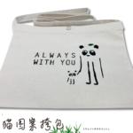 【新商品】トヴォパンダのサコッシュ/熊猫图案挎包(54mm缶バッチ付)