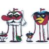 【新商品】「そら天狗も河童も赤いです、」Tengu & Kappa ステッカーセット(2枚組/クリアタイプ/屋外対応)