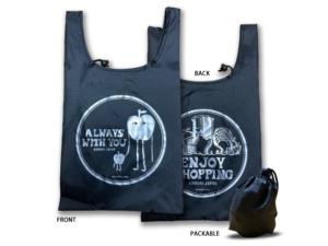 【新色】リップストップショッピングバッグ(ENJOY SHOPPING AOMORI/ブラック&シルバー)