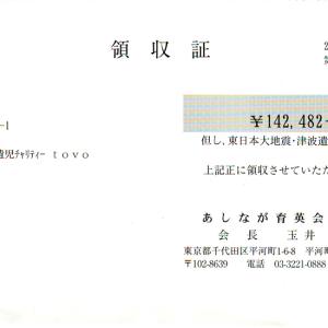 第15回 寄付ご報告(2012.8.29)