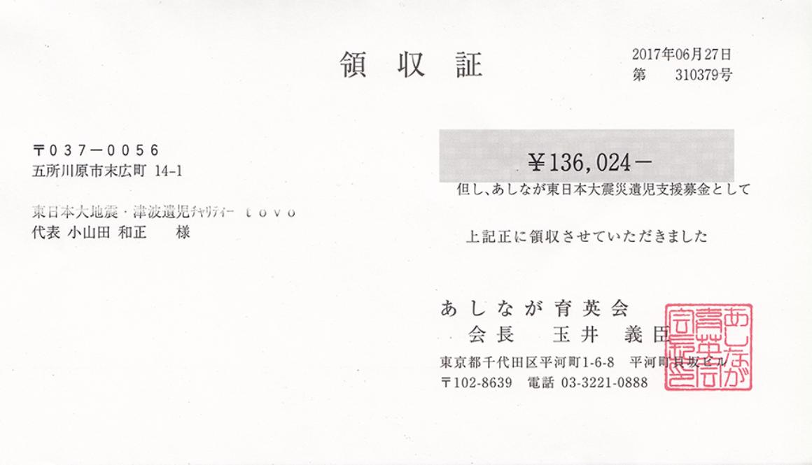 第45回 寄付ご報告 (2017.6.27)