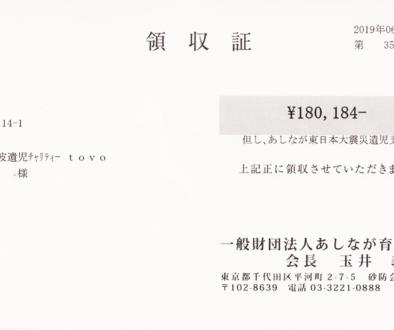 第57回 寄付ご報告 (2019.6.27)