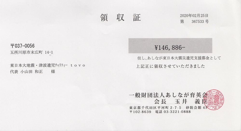 第61回 寄付ご報告 (2020.2.25)