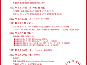 活動終了までのスケジュール(2021.6.29)