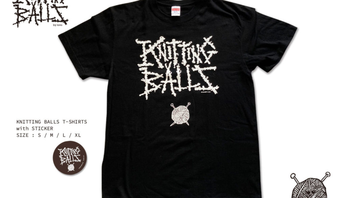 【新商品】KNITTING BALLS T-SHIRTS & KEYHOLDER