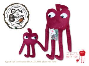 """【新商品】Quest For The Beasties HANDMADE plush doll """"tovo"""""""