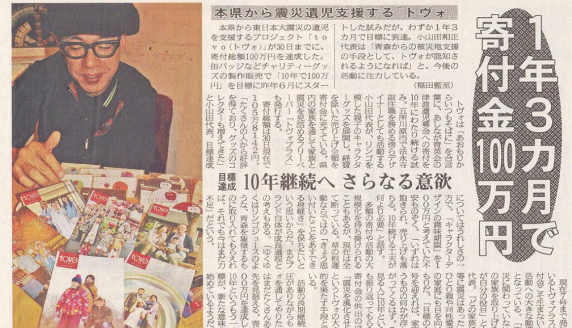 【メディア掲載】2012年10月1日 陸奥新報 朝刊