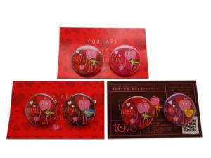 【季節限定商品】ヴァレンタイン 2012 チャリティ缶バッチ